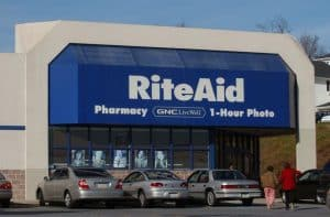 Front of Rite Aid Store