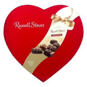 Heart-Shaped Box of Russell Stover Chocolates
