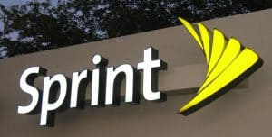 Sprint Sign and Logo on Building