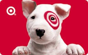 Target Mascot Dog with Bullseye on Face