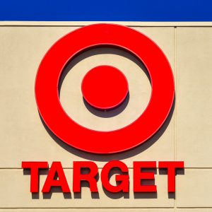 Target Name and Symbol on Store Wall