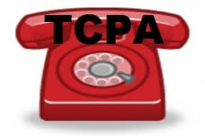 "Old-Fashioned Red Telephone with Letters ""TCPA"""