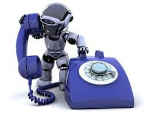 Robot on Telephone