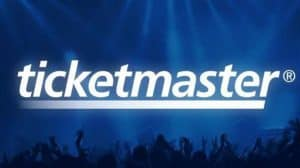 Ticketmaster Logo on Concert Audience Background
