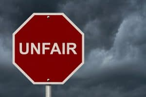 "Stop Sign Saying ""Unfair"""