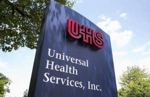 Universal Health Services Sign
