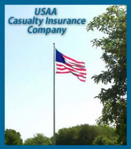 USAA Casualty Insuance Company Name and American Flag