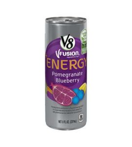 Can of V8 Pomegranate Blueberry Energy Drink