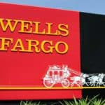 Wells Fargo Sign with Stagecoach Image