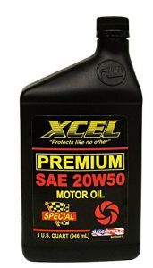 Bottle of XCEL Premium Motor Oil