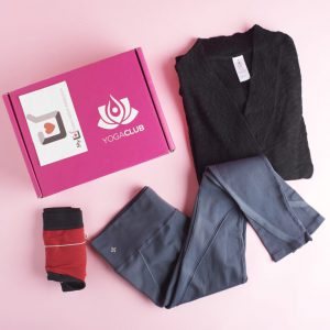 Sample Monthly Box of Workout Clothing from Yoga Club