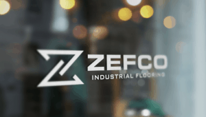 Zefco Logo on Window