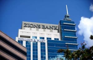 Building with Zions Bank Sign